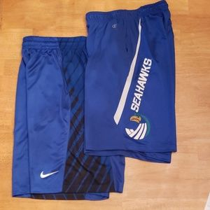 Men's Nike and Champion Athletic Shorts